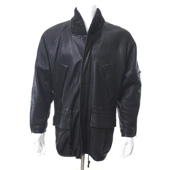 Yves Saint Laurent Other - Yves Saint Laurent Black Leather Bomber Jacket